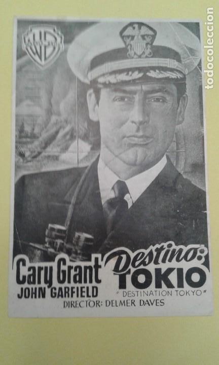 DESTINO TOKIO CARY GRANT ORIGINAL C.P. (Cine - Folletos de Mano - Bélicas)