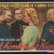 Cine: P-7204- EL HOMBRE DEL NIGER (L'HOMME DU NIGER) (TEATRO EDESA - PONFERRADA) HARRY BAUR. Lote 235719570