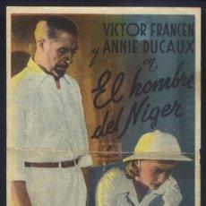 Cine: P-9219- EL HOMBRE DEL NIGER (L'HOMME DU NIGER) (TEATRO MAIQUEZ - CARTAGENA) HARRY BAUR. Lote 235723660