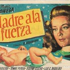 Cine: PN - PROGRAMA DE CINE - MADRE A LA FUERZA - MARIA CONESA,ALFREDO DEL DIESTRO - PRINCIPAL CINEMA 1953. Lote 235734040