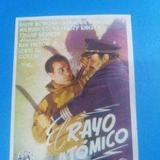 Cine: EL RAYO ATOMICO CON PUBLICIDAD CINEMA ALHAMBRA ZARAGOZA. Lote 235734450