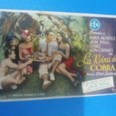 Cine: LA REINA DE COBRA. Lote 235784290