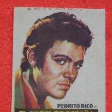 Cine: EL ANGEL DE ESPAÑA, DOBLE EXCTE. ESTADO, PEDRITO RICO, C/PUBLI CINE SAN JOSÉ 1961. Lote 235803315