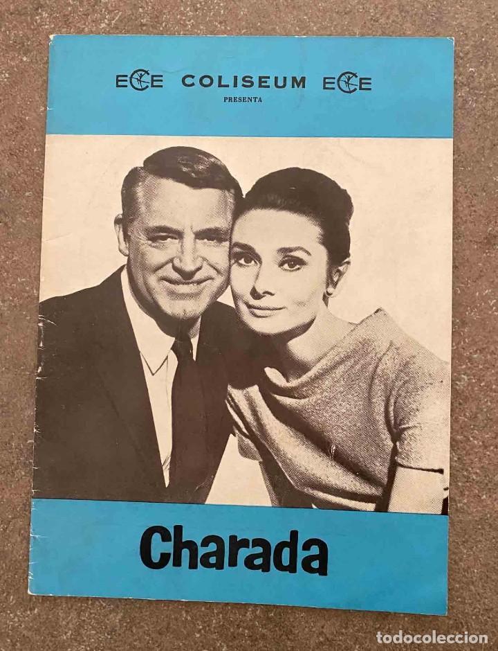 CHARADA, PROGRAMA LIBRITO CINE COLISEUM. AUDREY HEPBURN Y CARY GRANT. VER FOTOS (Cine - Folletos de Mano - Suspense)