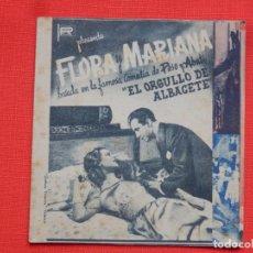 Cine: FLORA Y MARIANA, DOBLE, BLANCA DE SILOS,, C/PUBLI TEATRO CINE ESPAÑOL 1944. Lote 235812120