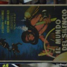 Foglietti di film di film antichi di cinema: EL MUNDO SILENCIOSO - CINE VICTORIA. Lote 235971525