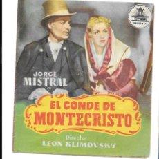 Cine: EL CO0NDE DE MONTECRISTO CP. Lote 235983885