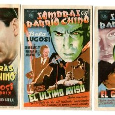 Cine: SOMBRAS DEL BARRIO CHINO, CON BELA LUGOSI. 3 JORNADAS.. Lote 235995505