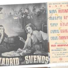 Cine: MADRID DE MIS SUEÑOS DOBLE SP. Lote 236009560