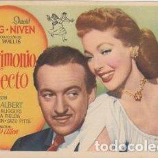Cine: UN MATRIMONIO PERFECTO. Lote 236042535