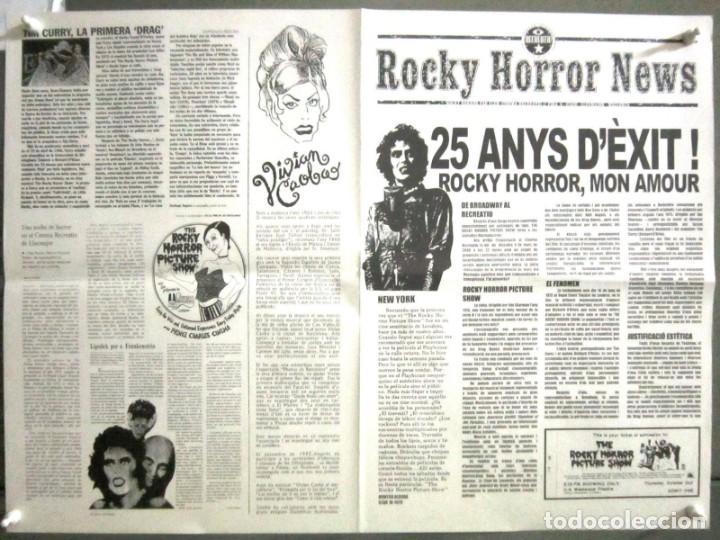 G8605 THE ROCKY HORROR PICTURE SHOW CULT PROGRAMA ESPECIAL ORIGINAL 25 ANIVERSARIO EN CATALAN (Cine - Folletos de Mano - Terror)