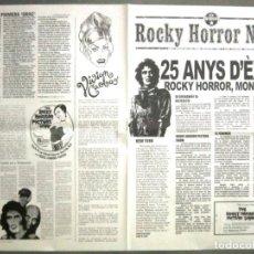 Cine: G8605 THE ROCKY HORROR PICTURE SHOW CULT PROGRAMA ESPECIAL ORIGINAL 25 ANIVERSARIO EN CATALAN. Lote 236052880