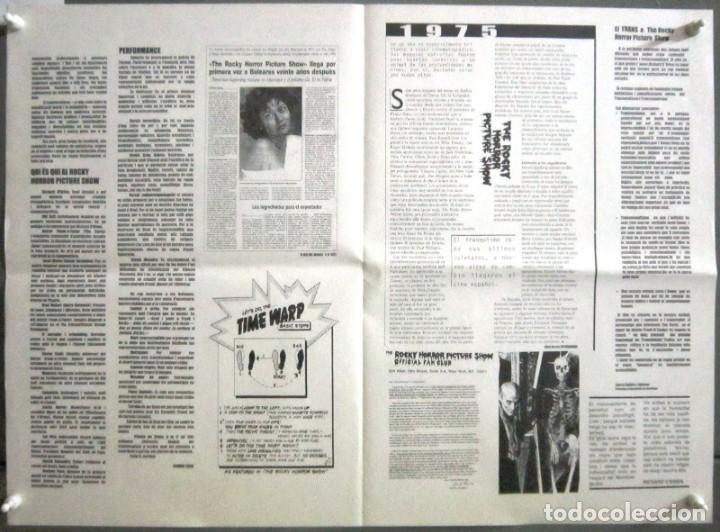Cine: G8605 THE ROCKY HORROR PICTURE SHOW CULT PROGRAMA ESPECIAL original 25 ANIVERSARIO EN CATALAN - Foto 2 - 236052880
