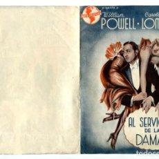Cine: AL SERVICIO DE LAS DAMAS, CON WILLIAM POWELL.. Lote 236054265