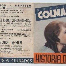 Cine: HISTORIA DE DOS CIUDADES, CON RONALD COLMAN.. Lote 236100100