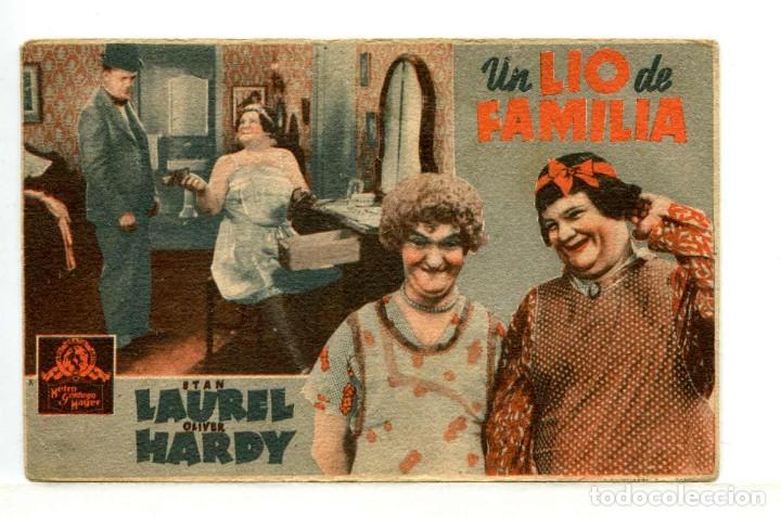 UN LÍO DE FAMILIA, CON STAN LAUREL OLIVER HARDY. (Cine - Folletos de Mano - Comedia)