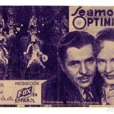Cine: SEAMOS OPTIMISTAS, CON WARNER BAXTER.. Lote 236174415