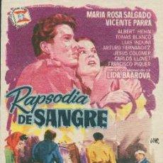 Cine: RAPSODIA DE SANGRE (CON PUBLICIDAD). Lote 236253560