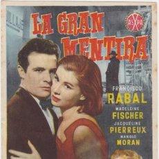 Cine: LA GRAN MENTIRA (EL DIFÍCIL CON PUBLICIDAD). Lote 236254235