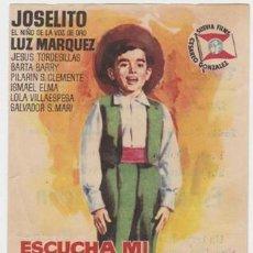 Cine: ESCUCHA MI CANCIÓN (CON PUBLICIDAD). Lote 236255235