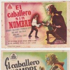 Cine: EL CABALLERO SIN NOMBRE. Lote 236420155