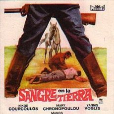 Flyers Publicitaires de films Anciens: SANGRE EN LA TIERRA. Lote 236420635