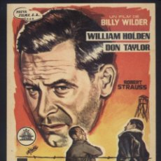Cine: P-5978- TRAIDOR EN EL INFIERNO (STALAG 17) WILLIAM HOLDEN - DON TAYLOR - OTTO PREMINGER. Lote 236682485