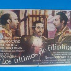 Cine: LOS ÚLTIMOS DE FILIPINAS CON PUBLICIDAD CINE GOYA. Lote 236890855