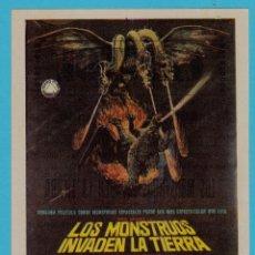 Flyers Publicitaires de films Anciens: LOS MONSTRUOS INVADEN LA TIERRA. CINE CAPITOL, TARRAGONA. AKIRA TAKANADA, KUMI MIZUNO 1965... Lote 237095775