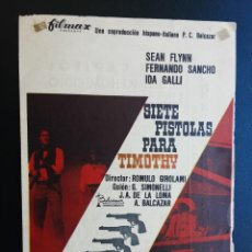 Cine: SIETE PISTOLAS PARA TIMOTHY, SEAN FLYNN, 1966. Lote 237340550
