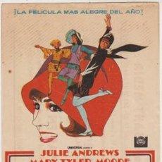 Folhetos de mão de filmes antigos de cinema: MILLIE, UNA CHICA MODERNA (CON PUBLICIDAD). Lote 237390530