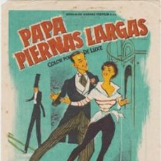 Folhetos de mão de filmes antigos de cinema: PAPÁ PIERNAS LARGAS (CON PUBLICIDAD). Lote 237392385