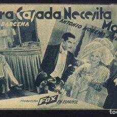 Cine: P-5955- SEÑORA CASADA NECESITA MARIDO (CINE MONUMENTAL) CATALINA BARCENA. Lote 237526005