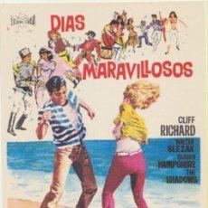 Flyers Publicitaires de films Anciens: DÍAS MARAVILLOSOS. SENCILLO DE FLORALVA. ¡IMPECABLE!. Lote 237528265