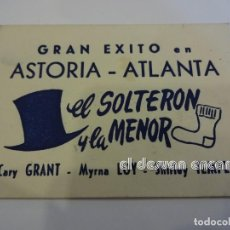 Cine: EL SOLTERON Y LA MENOR. C. GRANT-SHIRLEY TEMPLE. CARTON 80 X 60 MM.. Lote 237532620