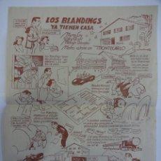 Cine: LOS BLANDINGS YA TIENEN CASA. FOLLETO ESTRENO EN FORMATO HISTORIETA. ILUST: V. CASTANYS. Lote 237536650