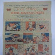 Foglietti di film di film antichi di cinema: FLASH GORDON MARTE ATACA LA TIERRA. FOLLETO ESTRENO EN FORMATO HISTORIETA. BALET-BLAY. Lote 237538010