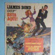 Cine: FOLLETO PELÍCULA, FILM - JAMES BOND 007 AL SERVICIO SECRETO SU MAJESTAD - CINE MERCÉ ARENYS DE MAR. Lote 237539015