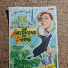 Flyers Publicitaires de films Anciens: FOLLETO DE MANO DE LA PELICULA UN AMERICANO EN PARIS. Lote 237795210