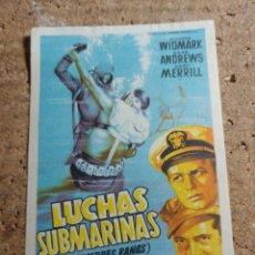 Cine: FOLLETO DE MANO DE LA PELICULA LANCHAS SUBMARINAS. Lote 237797350