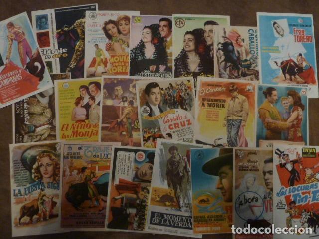 20 PROGRAMAS DE CINE DE TOROS (Cine - Folletos de Mano - Infantil)