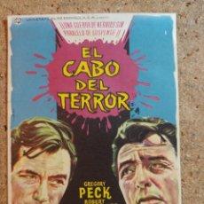 Flyers Publicitaires de films Anciens: FOLLETO DE MANO DE LA PELICULA EL CABO DEL TERROR. Lote 238161150