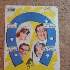 Foglietti di film di film antichi di cinema: FOLLETO DE MANO DE LA PELICULA MARTES Y TRECE. Lote 238161395