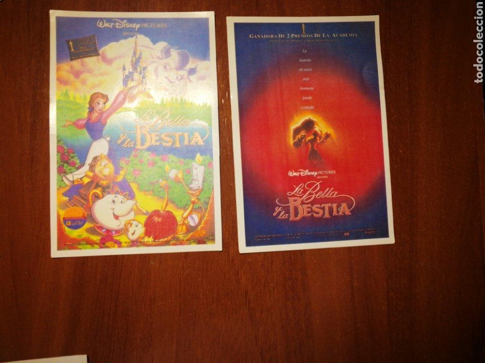 LA BELLA Y LA BESTIA-LOTE DE 2 PROGRAMAS ORIGINALES ESTRENO- (Cine - Folletos de Mano - Infantil)