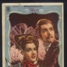 Foglietti di film di film antichi di cinema: P-9263- ESPRONCEDA (DOBLE) (CINE FRONTON - SAX) ARMANDO CALVO - AMPARO RIVELLES. Lote 238443370