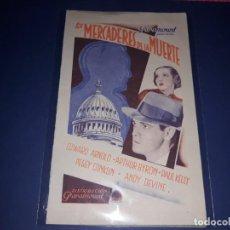 Cine: FOLLETO DOBLE LOS MERCADERES DE LA MUERTE 1934 SIN PUBLICIDAD. Lote 238460945