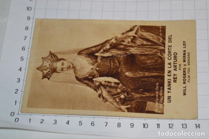 UN YANKI EN LA CORTE DEL REY ARTURO - FOLLETO MANO 1932 / CARTULINA, PUBLICIDAD CINE MODERNO ¡MIRA! (Cine - Folletos de Mano - Ciencia Ficción)