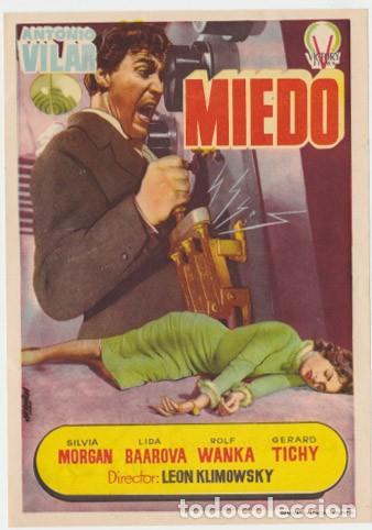 MIEDO (CON PUBLICIDAD) (Cine - Folletos de Mano - Clásico Español)