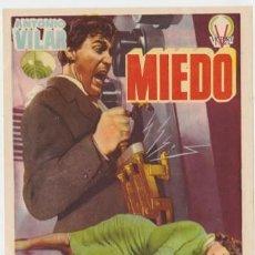 Cine: MIEDO (CON PUBLICIDAD). Lote 238692435