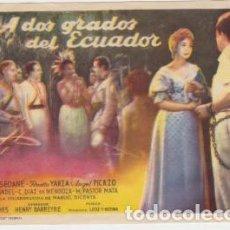 Flyers Publicitaires de films Anciens: A DOS GRADOS DEL ECUADOR. Lote 238692785
